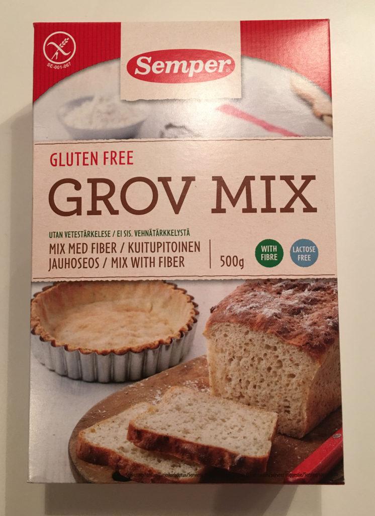 Semper Gluten fri brød mix grov type grov mix med fiber