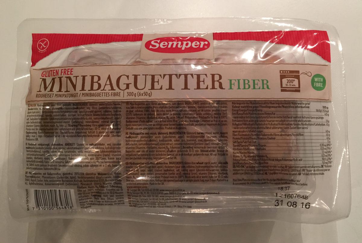 Semper Glutenfri Mini baguetter fiber