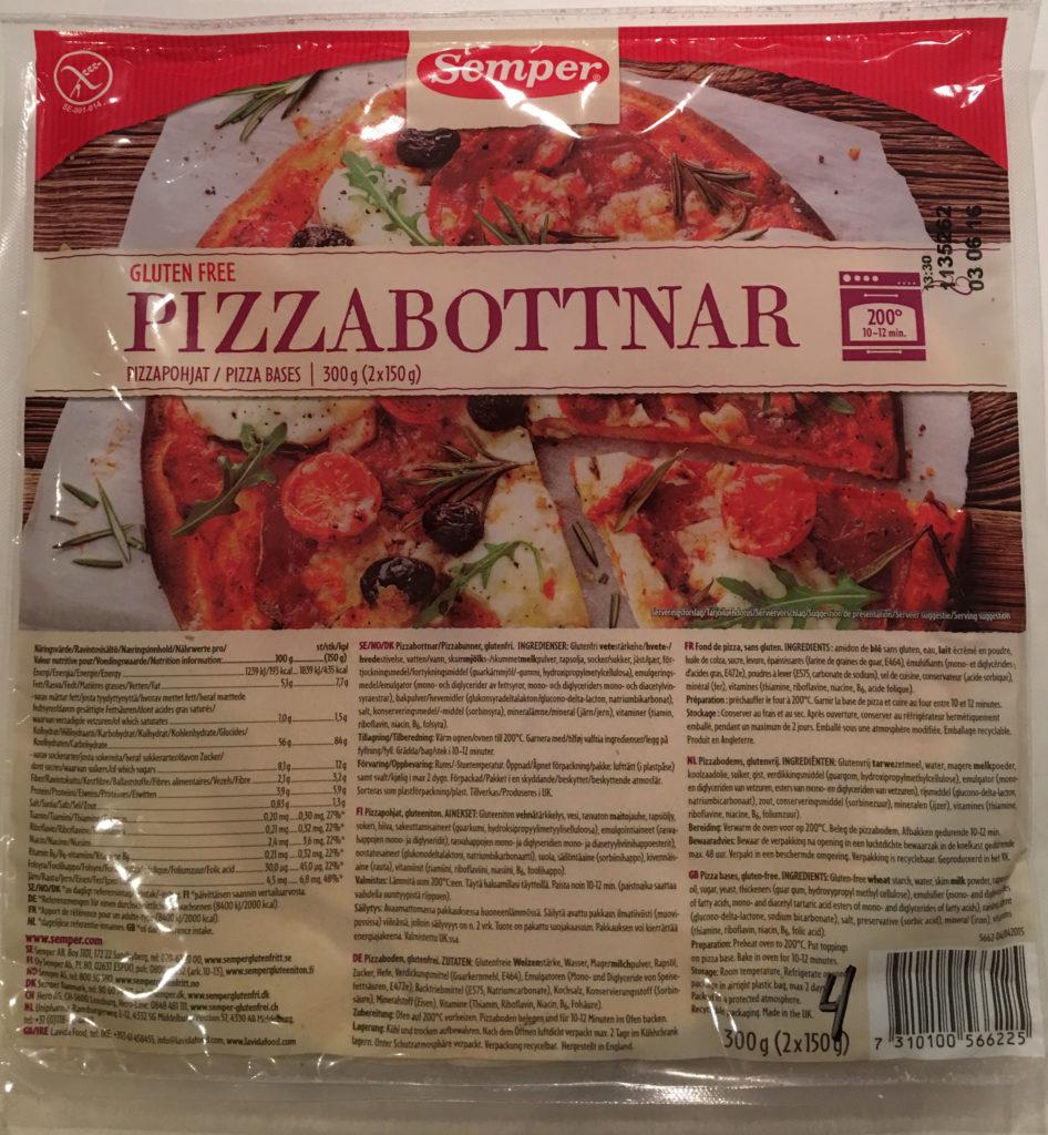 Semper pizzabunn glutenfri