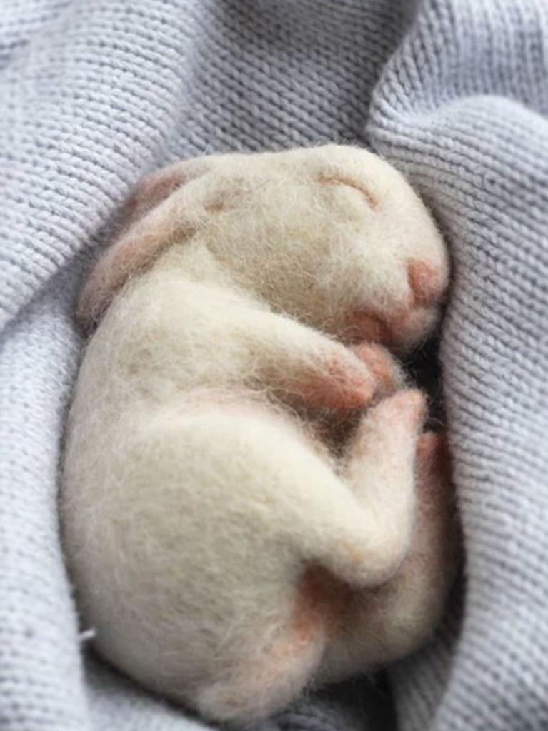 nålefiltet baby kanin påske