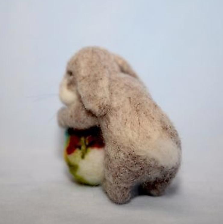 nålefiltet kanin baby
