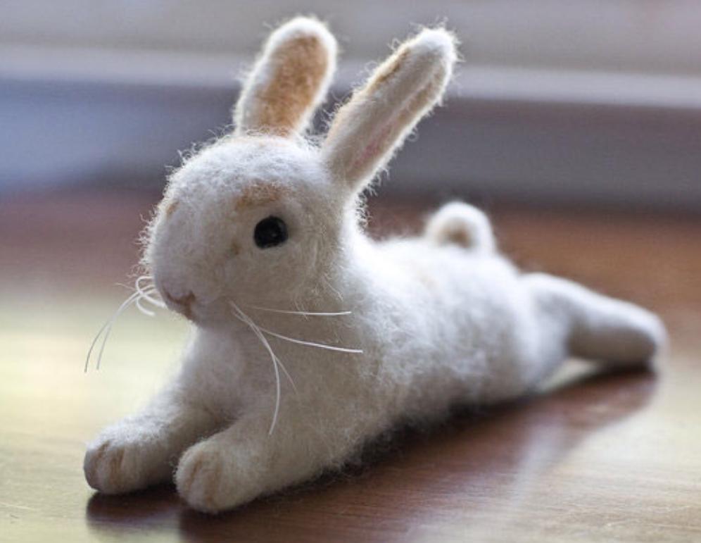 nålefiltet kanin påske