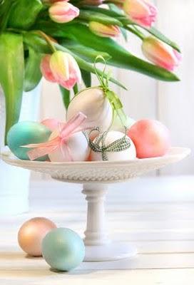 påske egg tulipaner dekorasjon