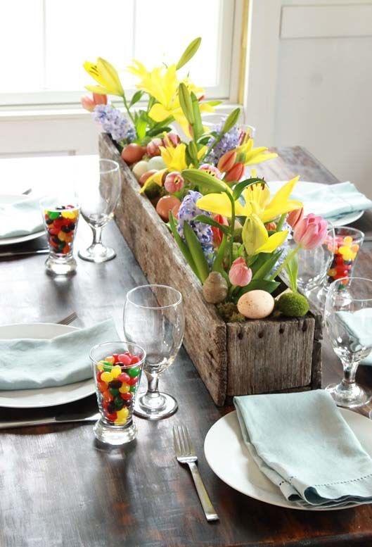 påskedekor bord